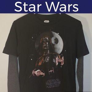 🚀Long Sleeve Shirt-Darth Vader-Star Wars-Black S